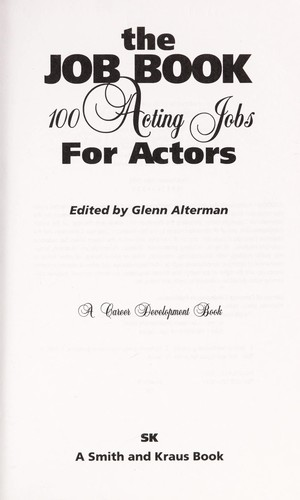The job book by edited by Glenn Alterman.