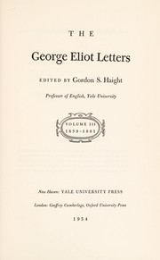 Cover of: The George Eliot letters