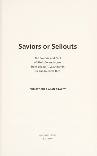 Saviors or sellouts by Christopher Alan Bracey