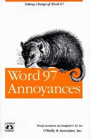 Cover of: Word 97 annoyances