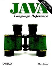 Cover of: Java Language Reference (Java)