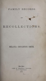Cover of: Family records and recollections