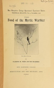 Cover of: The food of the Myrtle warbler