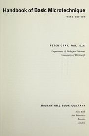 Cover of: Handbook of Basic Microtechnique. Third edition (revised and expanded). [With illustrations.].