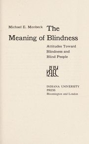 Cover of: The meaning of blindness