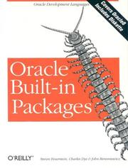 Cover of: Oracle Built in Packages
