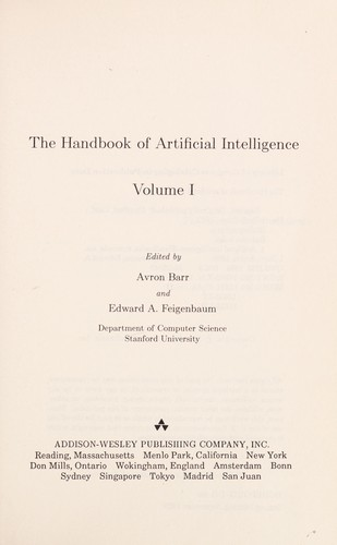 Handbook of Artificial Intelligence by Avron Barr