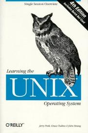 Cover of: Learning the UNIX operating system