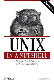 Cover of: UNIX in a nutshell