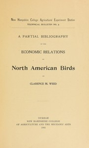 Cover of: A partial bibliography of the economic relations of North American birds