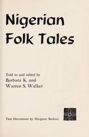 Cover of: Nigerian folk tales |