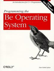 Cover of: Programming the Be operating system