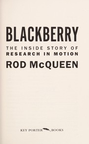 Cover of: The BlackBerry | Rod McQueen