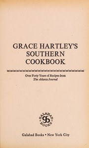 Cover of: Grace Hartley's Southern Cookbook