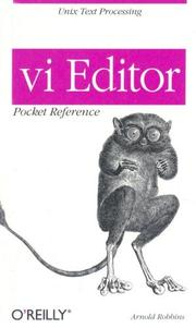 Cover of: VI Editor Pocket Reference