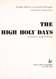 Cover of: The High Holy Days | Naphtali Winter