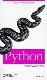 Cover of: Python Pocket Reference | Mark Lutz