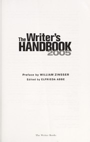 Cover of: The writer's handbook 2005 |
