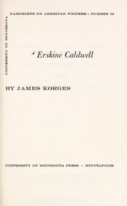 Cover of: Erskine Caldwell. | James Korges