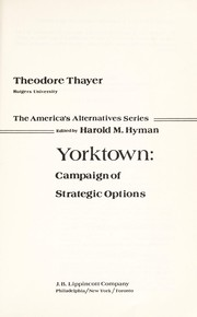 Cover of: Yorktown, campaign of strategic options