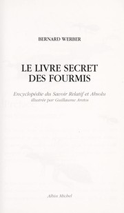 Cover of: Le livre secret des fourmis