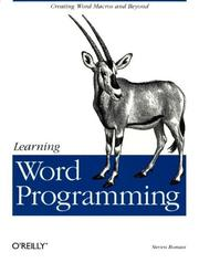 Cover of: Learning Word programming