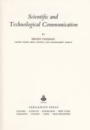 Cover of: Scientific and technological communication