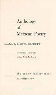 Cover of: Anthology of Mexican poetry