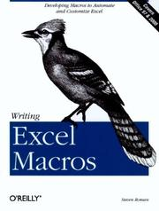 Cover of: Writing Excel macros