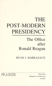 Cover of: The post-modern presidency