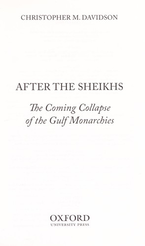 After the sheikhs by Christopher M. Davidson