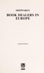 Cover of: Sheppard's Book Dealers in Europe (Sheppard's Book Dealers)