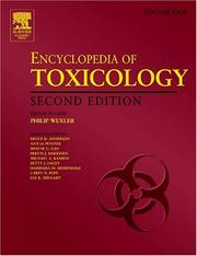 Cover of: Encyclopedia of Toxicology (Four-Volume Set) | Philip Wexler