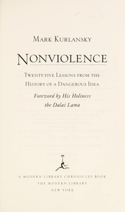 Cover of: Nonviolence | Mark Kurlansky