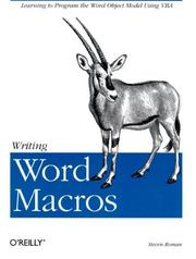 Cover of: Writing Word Macros