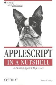 Cover of: AppleScript in a nutshell