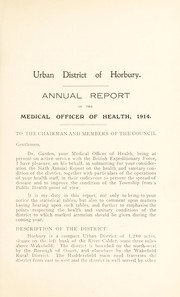 Cover of: [Report 1914] | Horbury (West Riding of Yorkshire). Urban District Council