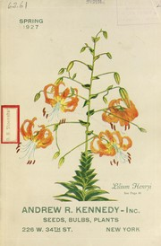 Cover of: Spring 1927 [catalog] | Andrew R. Kennedy, Inc