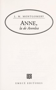 Cover of: Anne of Avonlea
