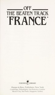 Cover of: France (Off the Beaten Track) | HarperCollins