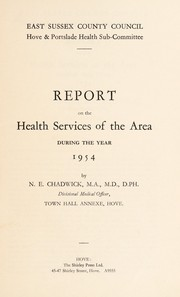 Cover of: [Report 1954] | Hove and Portslade (England). Health Sub-Committee