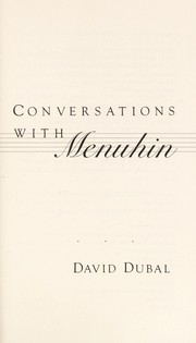 Cover of: Conversations with Menuhin