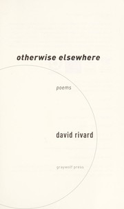 Cover of: Otherwise elsewhere