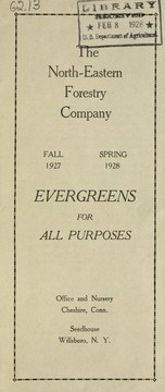 Cover of: Evergreens for all purposes | North-Eastern Forestry Company