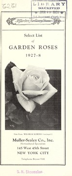 Cover of: Select list of garden roses | Muller-Sealey Company