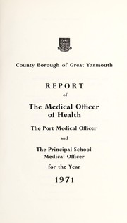 Cover of: [Report 1971] | Great Yarmouth (England). Borough Council. nb2008007343