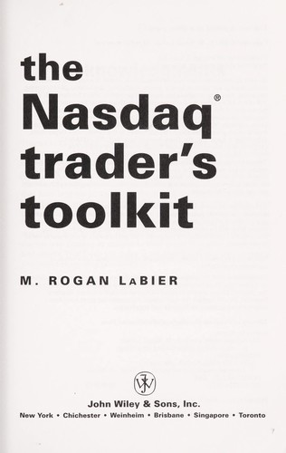 The NASDAQ trader's toolkit [electronic resource] by