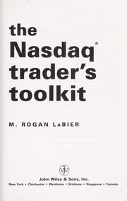Cover of: The NASDAQ trader's toolkit [electronic resource] |