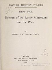 Cover of: Pioneers of the Rocky Mountains and the West
