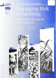 Cover of: Managing risk in farming | Joy L. Harwood